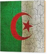 Grunge Algeria Flag Wood Print