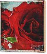 Grunge And Roses Wood Print by Sharon Coty