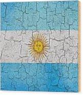 Grunge Argentina Flag Wood Print