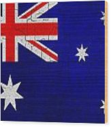 Grunge Australia Flag Wood Print