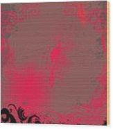 Grunge Background Wood Print