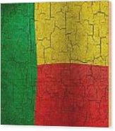 Grunge Benin Flag Wood Print