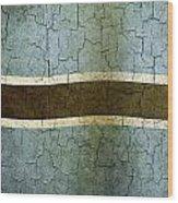 Grunge Botswana Flag Wood Print