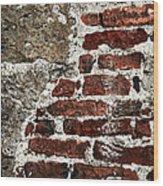 Grunge Brick Wall Wood Print