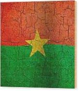 Grunge Burkina Faso Flag Wood Print