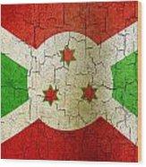 Grunge Burundi Flag Wood Print