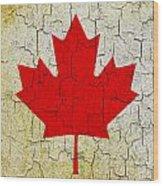 Grunge Canada Flag Wood Print