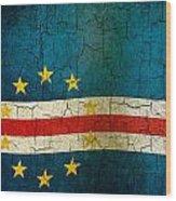 Grunge Cape Verde Flag Wood Print