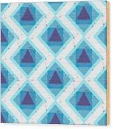 Grunge Colorful Abstract Geometric Wood Print