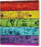 Grunge Colorful Wood Planks Background Wood Print