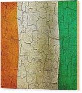 Grunge Cote D'voire Flag Wood Print