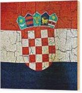 Grunge Croatia Flag Wood Print