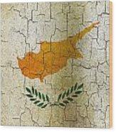 Grunge Cyprus Flag Wood Print