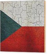 Grunge Czech Republic Flag Wood Print