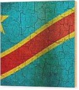 Grunge Democratic Republic Of The Congo Flag Wood Print