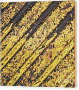 Grunge Dirty Yellow Texture Wood Print