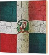 Grunge Dominican Republic Flag Wood Print