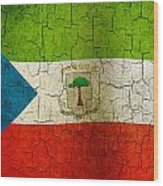 Grunge Equatorial Guinea Flag Wood Print