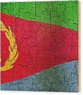 Grunge Eritrea Flag Wood Print