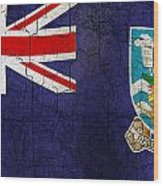 Grunge Falkland Islands Flag Wood Print