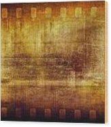 Grunge Filmstrip Wood Print