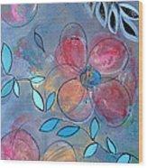 Grunge Floral II Wood Print