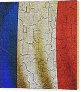 Grunge France Flag Wood Print