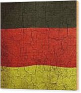 Grunge German Flag Wood Print
