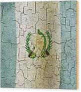 Grunge Guatemala Flag Wood Print