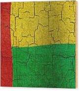 Grunge Guinea-bissau Flag Wood Print