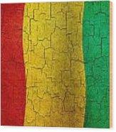 Grunge Guinea Flag Wood Print