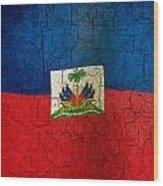 Grunge Haiti Flag  Wood Print