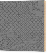 Grunge Halftone Vector Background Wood Print