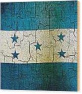 Grunge Honduras Flag Wood Print