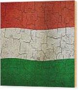 Grunge Hungary Flag Wood Print