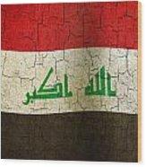 Grunge Iraq Flag Wood Print