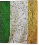 Grunge Ireland Flag Wood Print