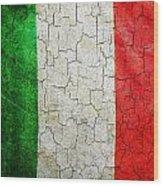 Grunge Italy Flag Wood Print