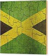 Grunge Jamaica Flag Wood Print