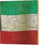 Grunge Kuwait Flag Wood Print