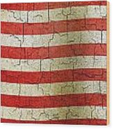 Grunge Liberia Flag Wood Print