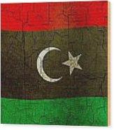 Grunge Libya Flag Wood Print