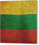 Grunge Lithuania Flag Wood Print