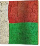 Grunge Madagascar Flag Wood Print
