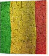 Grunge Mali Flag Wood Print