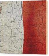 Grunge Malta Flag Wood Print