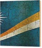 Grunge Marshall Islands Flag Wood Print