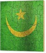Grunge Mauritania Flag Wood Print
