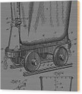 Grunge Mine Trolley Patent Wood Print