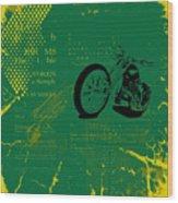 Grunge Motorcycle Background Vector Wood Print